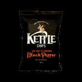 Kettle Sea salt and crushed black pepper crisps