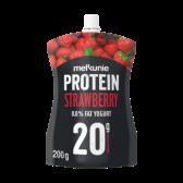 Melkunie Proteine aardbeien yoghurt (voor uw eigen risico)