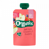 Organix Apple, strawberry and blueberry squeeze fruit (from 6 months)