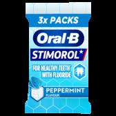 Stimorol Oral-B pepermunt kauwgom suikervrij 3-pack
