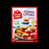 Home Made Complete mix voor regenboog cupcakes