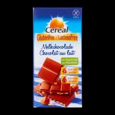 Cereal Glutenvrije en lactosevrije melkchocolade met hazelnoot reep