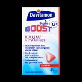 Davitamon Multi boost strawberry chewing vitamines (from 12 years)