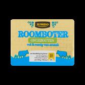 Jumbo Ongezouten roomboter (alleen beschikbaar binnen Europa)
