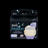 Wilkinson Sword Intuition dry skin coconut milk and almond oil razor blades