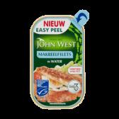 John West Mackerel filets in water MSC