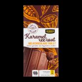 Jumbo Milk chocolate tablet with caramel seasalt