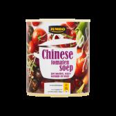 Jumbo Chinese tomatensoep met noedels, waterkastanje en tauge
