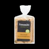 Smaakt Organic pumpkin cheese cracker