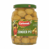 Carbonell Green olives without seeds large