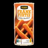 Jumbo Frankfurter sausages