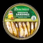 John West Gerookte sardines in extra vergine olijfolie