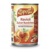 Zapetti Fresh paste pure beef ravioli small