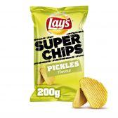 Lays Pickles ribbled super crisps