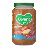 Olvarit Brown beans with apple, beef and potatoes (from 8 months)