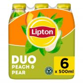Lipton Ijsthee perzik peer niet bruisend 6-pack