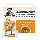 Quaker Oat flakes grain bars with golden syrup