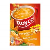 Royco Crunchy pumpkin-carrot soup with cheese