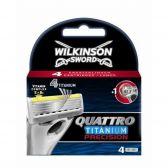 Wilkinson Sword Quattro titanium precision scheermesjes