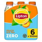 Lipton Ice tea peach zero sugar 6-pack