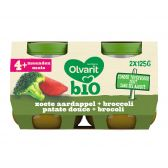Olvarit Organic zoete potatoes with broccoli 2-pack (from 4 months)