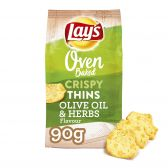 Lays Oven crispy thin olives and herbs crisps