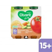Olvarit Tomato, tuna and pasta 2-pack (from 15 months)