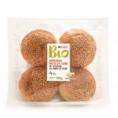 Delhaize Organic burger bread with sesame topping