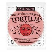 No Fairytales Beetroot tortilla wraps