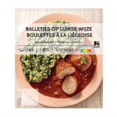 Delhaize Meat balls with Liege sauce (at your own risk, no refunds applicable)