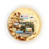 Delhaize Hummus with celery (at your own risk, no refunds applicable)