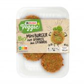 Delhaize Organic mini spinach burger (at your own risk, no refunds applicable)