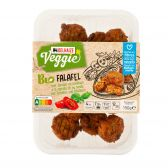 Delhaize Organic falafel with tomato and basil (at your own risk, no refunds applicable)
