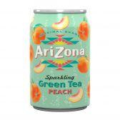 Arizona Green tea with peach sparkling