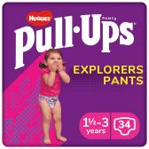 Huggies Pull ups explorer for girls (from 1,5 to 3 year)