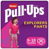 Huggies Pull ups explorer for girls (from 9 to 19 months)