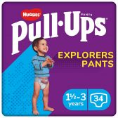 Huggies Pull ups explorer for boys (from 1,5 to 3 year)