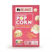 Delhaize Zoete magnetron popcorn