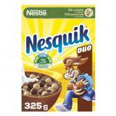 Nestle Nesquik breakfast cereals with white and dark chocolate bolls