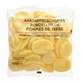 Delhaize Aardappelschijfjes (voor uw eigen risico, geen restitutie mogelijk)