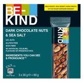 Be-Kind Donkere chocolade, noten en zeezout reep