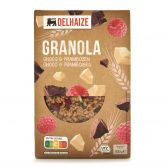 Delhaize Granola with chocolate and raspberry