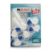 Delhaize toilet-block power 5 drops javel 2-pack