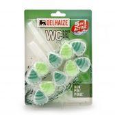 Delhaize Toilet-block power 5 drops pine 2-pack