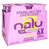 Nalu Zwarte thee passievrucht limonade 6-pack