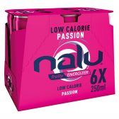 Nalu Fruity energizer passion lemonade 6-pack