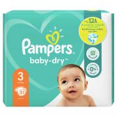Pampers Baby dry size 3 diapers (from 6 kg to 10 kg)