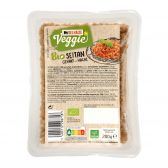 Delhaize Organic shopped seitan (at your own risk, no refunds applicable)