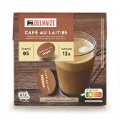 Delhaize Cafe au lait coffee caps