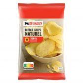 Delhaize Zoute ribbel chips